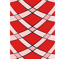 Curved tiles-red Photographic Print