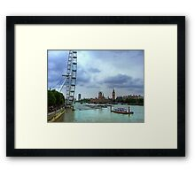London Icons - The Eye, and Westminster Framed Print