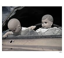 'Dolls shouldn't drive...' Catavina, Baja Peninsula, Mexico. by PETER CULLEY
