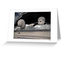 'Dolls shouldn't drive...' Catavina, Baja Peninsula, Mexico. Greeting Card