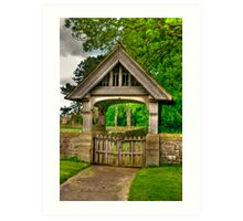Lych-Gate, Holy Trinity, Coverham Art Print