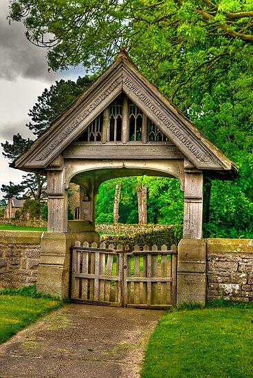 Lych-Gate, Holy Trinity, Coverham by Trevor Kersley