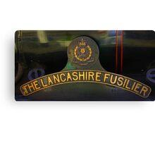 Name Plate 'The Lancashire Fusilier' Canvas Print