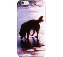 saz silhouette on the sands iPhone Case/Skin