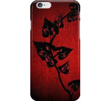 Leaves on leather iPhone Case/Skin