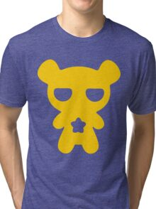 Lazy Bear Yellow Attention Tri-blend T-Shirt