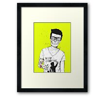 hipsters not dead Framed Print