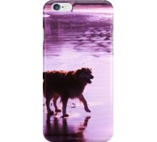 saz walking across the beach iPhone Case/Skin