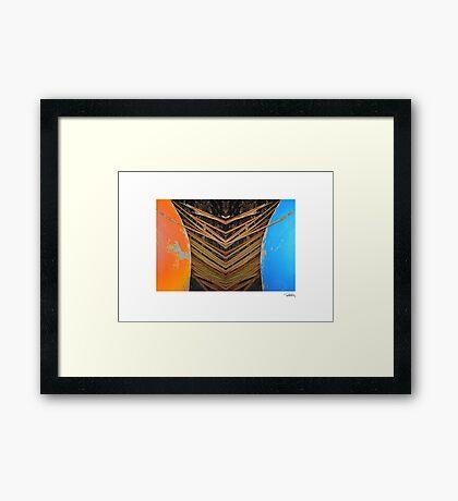 Tiki Canoe • Makawayan Framed Print