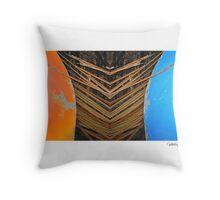 Tiki Canoe • Makawayan Throw Pillow