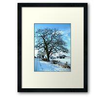 Wintery Tree Framed Print