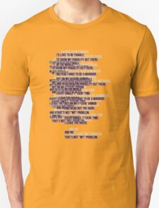 warrior text T-Shirt