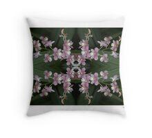Orchid Quadro 0001 • Singapore Botanical Gardens Throw Pillow