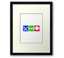 EAT SLEEP LISTEN do something symol Framed Print