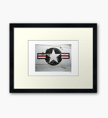 USAF insignia on A4D Skyhawk Framed Print