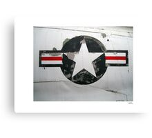 USAF insignia on A4D Skyhawk Canvas Print
