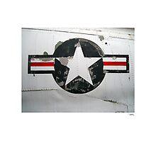 USAF insignia on A4D Skyhawk Photographic Print