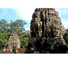 The Faces of Bayon - Angkor, Cambodia.  Photographic Print