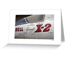 USAF X-2 at the boneyard Greeting Card