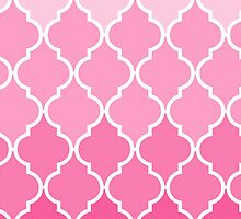 Girly Pink vintage classic Quatrefoil Pattern by Maria Fernandes