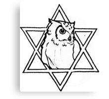 The owl of wisdom Canvas Print