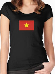 I Love Vietnam - Flag Vietnamese Sticker T-Shirt Duvet Women's Fitted Scoop T-Shirt