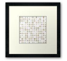 Vintage pastel grunge polka dots pattern Framed Print