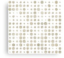 Vintage pastel grunge polka dots pattern Canvas Print