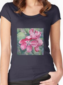 Flower of Crab-apple Women's Fitted Scoop T-Shirt