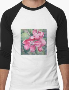 Flower of Crab-apple Men's Baseball ¾ T-Shirt