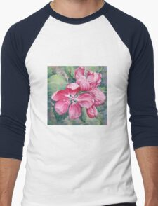 Flower of Crab-apple Men's Baseball ¾ T-Shirt