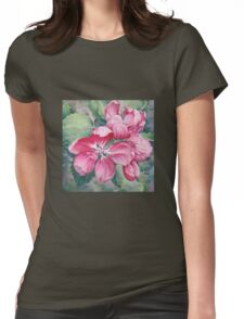 Flower of Crab-apple Womens Fitted T-Shirt