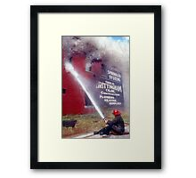 No sprinklers Framed Print