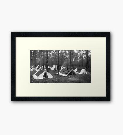 Yankee camp Framed Print