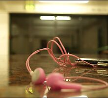 Earphones.. by Amy Barrow