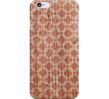 Vintage grunge orange and white trellis pattern  iPhone Case/Skin