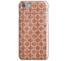Vintage grunge orange and white trellis pattern  iPhone Case/Skin
