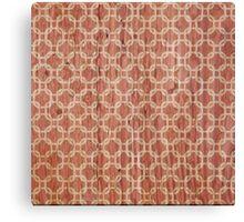 Vintage grunge orange and white trellis pattern  Canvas Print