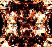 Triangle geometric sparkly fire by PLdesign