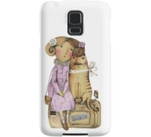 Girl and Cat Samsung Galaxy Case/Skin