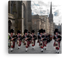 The Pipes and Drums of Lothian & Borders Police Force Canvas Print