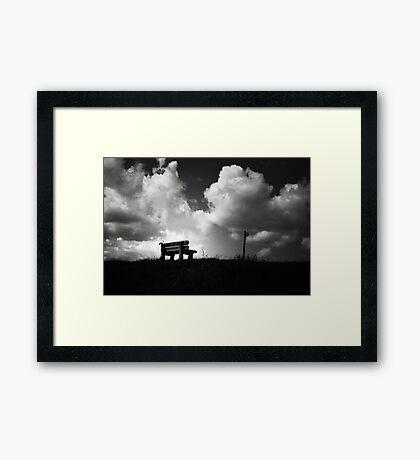 Sit Awhile.... Framed Print