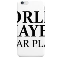 WORLD'S OKAYEST GUITAR PLAYER iPhone Case/Skin