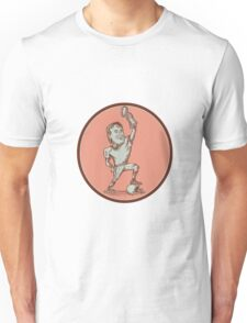 American Football Player Champion Trophy Drawing Unisex T-Shirt