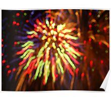 Multi-coloured fireworks Poster