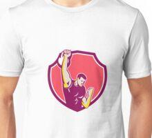 Kettlebell One-Arm High Pull Retro Unisex T-Shirt