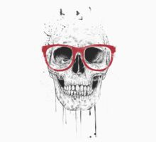 Skull with red glasses Kids Clothes