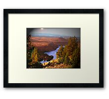 Last Look of a Timeless View Framed Print