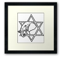 The elephant of wisdom Framed Print