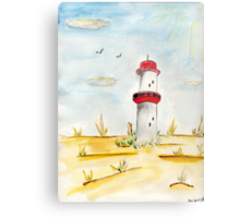 The Leaning Lighthouse Metal Print